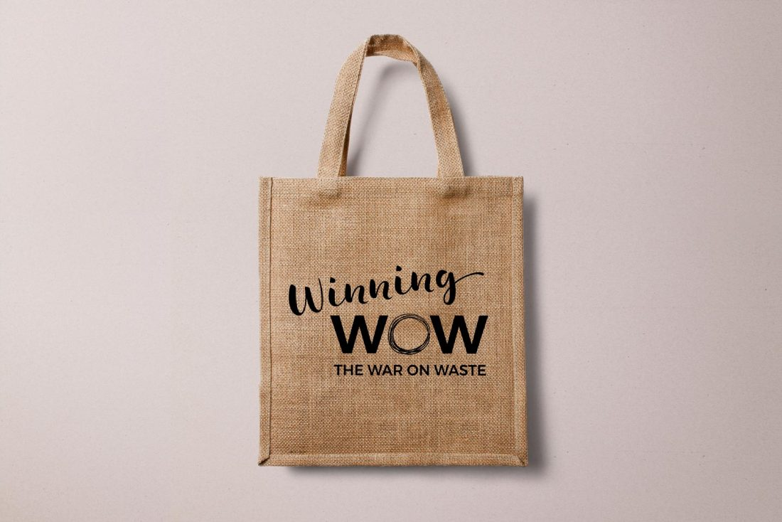 Winning the War on Waste Identity Design: bag