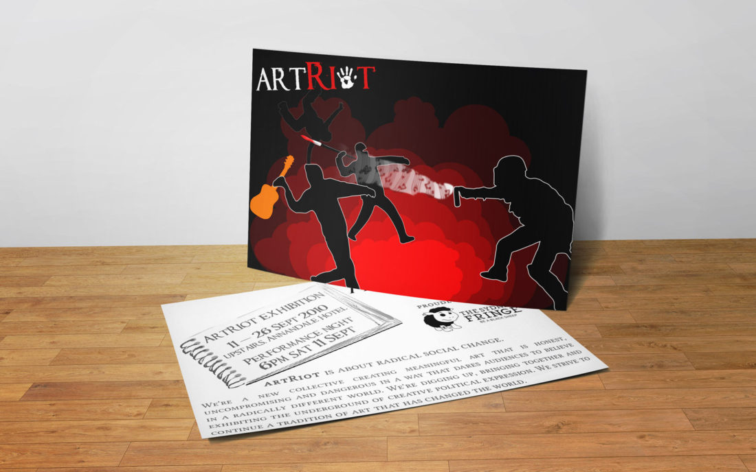 artRiot Postcard Flyer